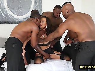 interracial, big tits, casting