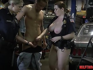 threesome, milf, public