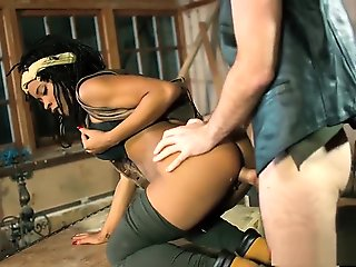 ebony, straight, interracial